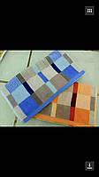 Кухонное полотенце сине-оранжевые клетки полотенце хлопок 10 шт в упаковке 35х70