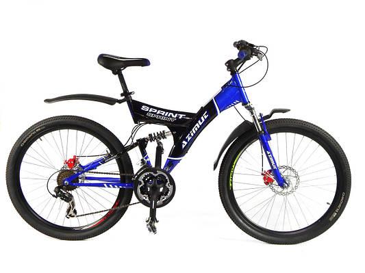 """Горный велосипед AZIMUT SPRINT 26"""" 18""""  Синий/Черный"""