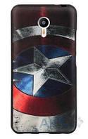 Накладка для Meizu M3 / M3 mini / M3s силикон Infinity 3D Рисунок Капитан Америка