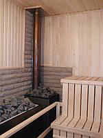 Монтаж дымохода в сауне