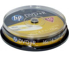 Диски HP DVD+R 4,7 GB 16x Cake box/10