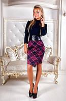 Комбинированное трикотажное платье с корсетом Цвет- на фото