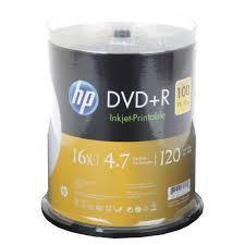 Диски HP DVD+R 4,7 GB 16x Cake box/100