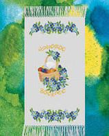 Заготовка для вишивки Великодній рушник, ГАБАРДИН 36х58см