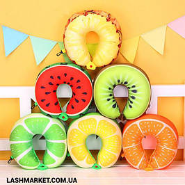 Подушка - подкова в виде фруктов