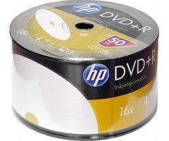 Диски HP DVD+R 4,7 GB 16x, Full-face inkjet printable white, Shrink/50