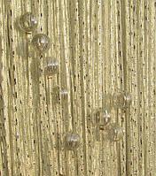 Шторы нити  дождь с бусинами шампань, фото 1