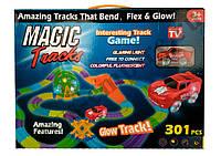 Magic Tracks 301 деталь. В набор входят 301 деталь, включая мост и колесо.Трек отлично светится в темноте!, фото 1