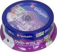 Диски Verbatim DVD+R 8.5Gb DL 8x Cake 25 printable
