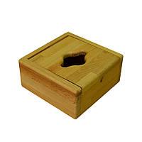 Диспенсер деревянный КУБ для салфеток FE10 / 11/1/5/2