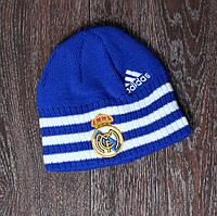 Детская футбольная шапка Реал Мадрид синяя