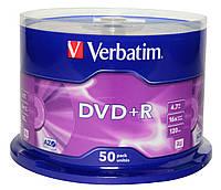 Диски Verbatim DVD+R 4.7GB 16x, Cake 50, SR-43548