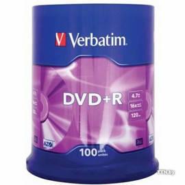 Диски Verbatim DVD+R 4.7GB 16x, Cake 100, SR-43549