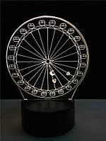 3D лампа-светильник Колесо обозрения с 7 вариантами подсветки! , фото 1