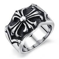 Мужское кольцо с крестом, фото 1