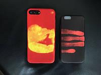 Накладка для iPhone 7 силикон Heat Sensitive Leather back case Devia Red (X-100007)