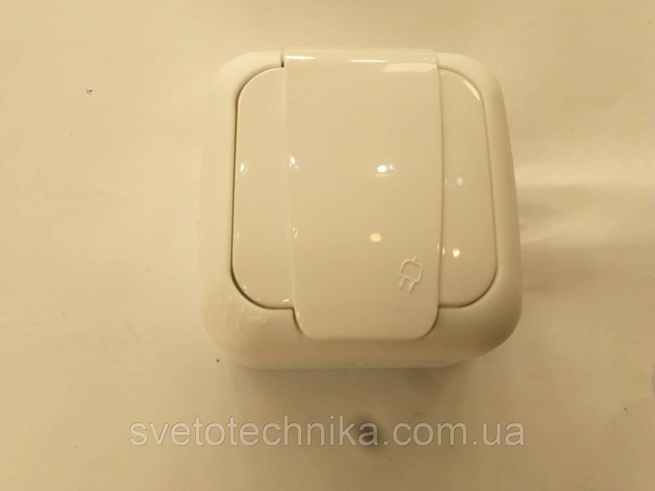 Розетка Palmiye одинарная с заземлением  IP64  (серого цвета)
