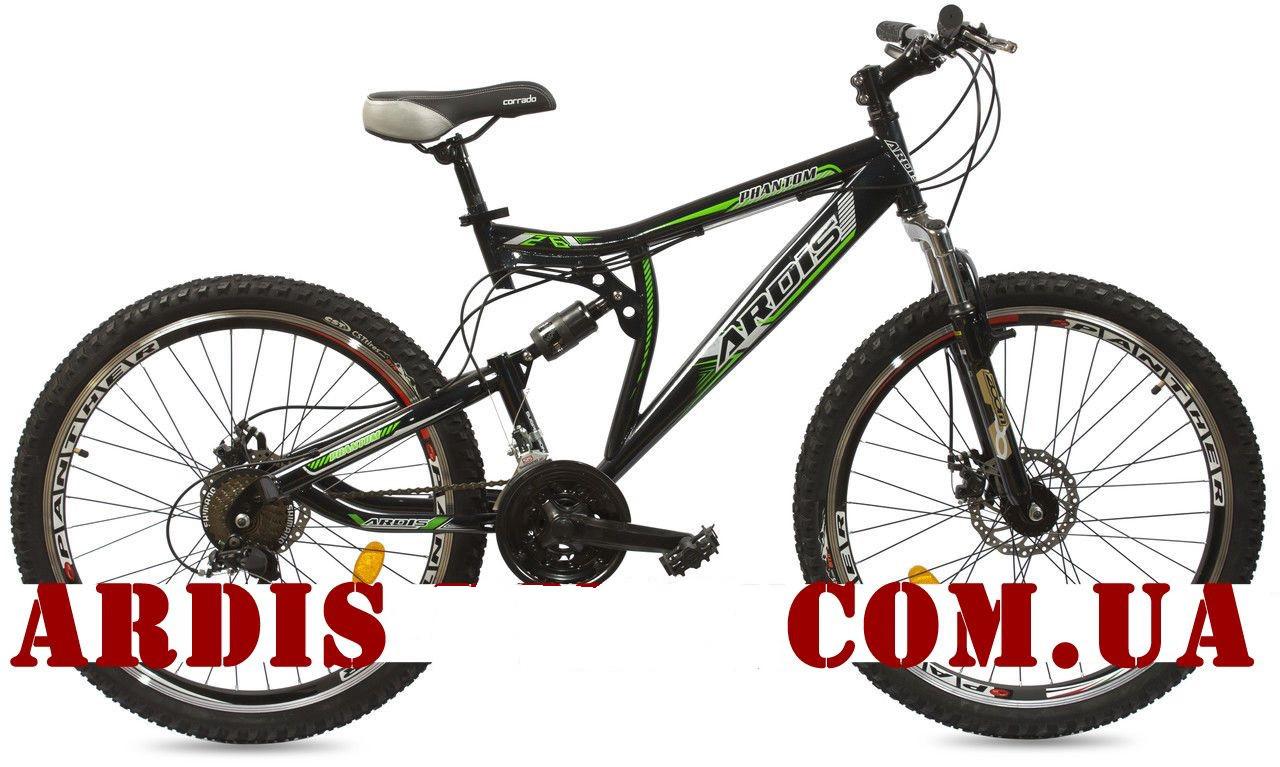 """Горный велосипед ARDIS PHANTOM AMT 26"""" 18""""  Черный/Зеленый"""
