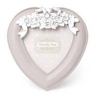 Рамка для фото в форме сердца с декором 19х 20 см