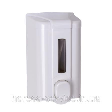 Диспенсер - Дозатор жидкого мыла 0,5 л.Solaris Белый, фото 2