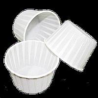 Формы бумажные для кексов с бортиком белые, 55*35 мм