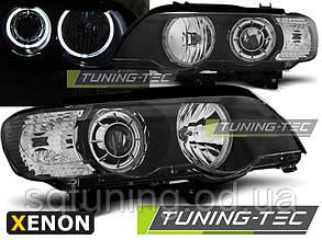 Фары BMW X5 E53 09.99-10.03 LED ANGEL EYES XENON BLACK