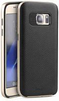 Накладка для Samsung Galaxy S7 Flat G930 TPU + PC iPaky Черный / Золотой