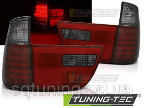 Задние фонари BMW X5 E53 09.99-06 RED SMOKE LED