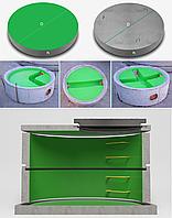 Железобетонные днища колодцев с полиэтиленовыми вкладышами Geoplas НDPE (диаметр: 1500-3300)