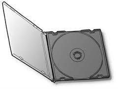 Коробка Бокс для 1-CD диска Slim чёрный трей (CMC Magnetics)