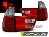 Задние фонари BMW X5 E53 09.99-06 RED WHITE LED