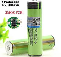 Акумуляторні батарейки 18650B 3400 mAh Li-ion + захист