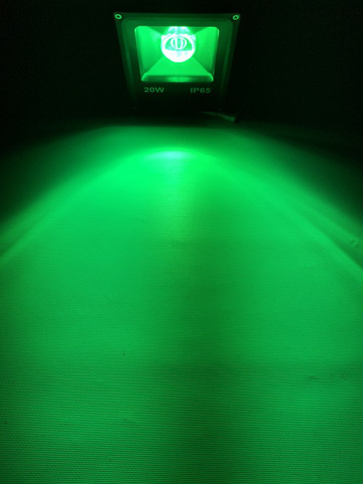 Светодиодный линзованый прожектор SL-20Lens 20W зеленый IP65 Slim Код.59186