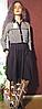Платье из трикотажа француз.