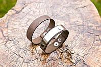 Кожаный браслет с лазерной гравировкой