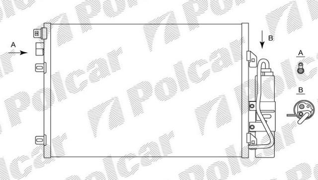 Радиатор кондиционера 2800K81X(8200090213) LOGAN, 04-