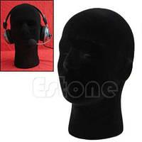 Манекены головы из пенопласта в ткани для шапок, париков, очков, рисования