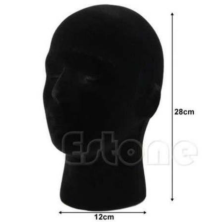 Манекены головы из пенопласта в ткани для шапок, париков, очков, рисования, фото 2