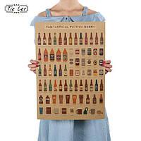 Постер Beer, в бар, ресторан 51см *36см