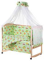 Детская постель Qvatro Gold RG-08 рисунок салатовая (совы на ветках)