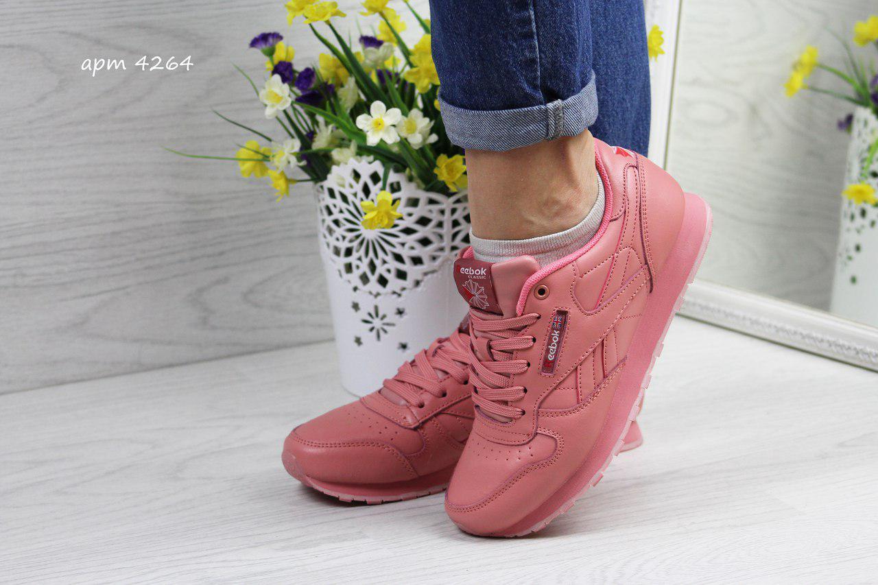 Жіночі,підліткові кросівки Reebok Classic,рожеві 36,40 р