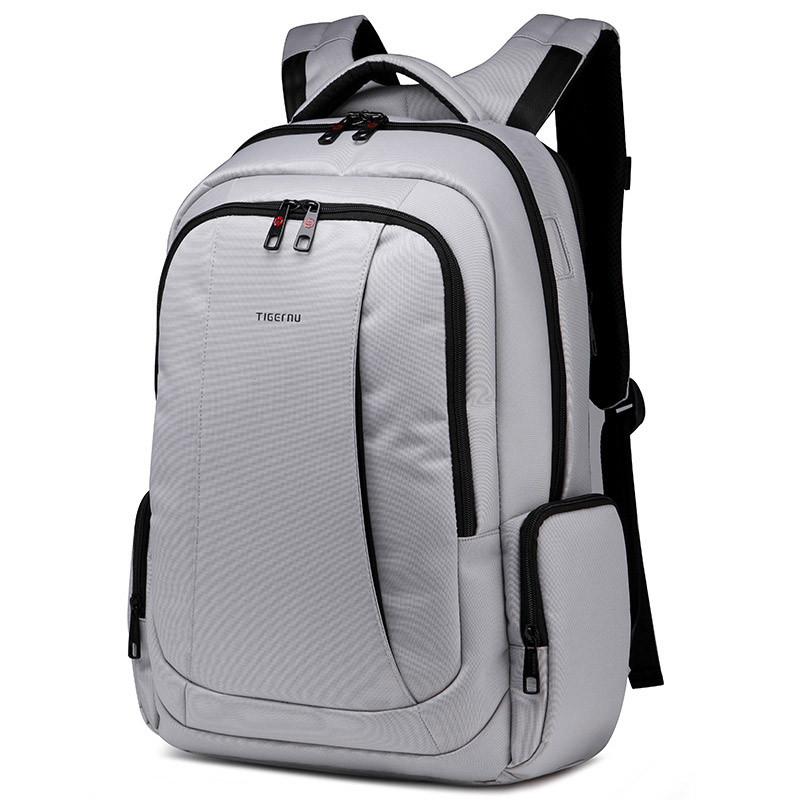 """Фирменный рюкзак для ноутбука 15,6"""" Тigernu T-B3143, светло-серый"""