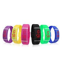 LED часы цифровой Rubber Sports Pink (2000000801490)