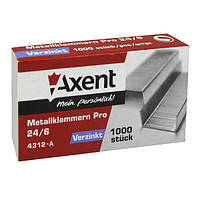Скобы Axent 4312-A Pro 24/6, 1000 шт