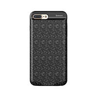 Накладка-дополнительный аккумулятор iPhone 7 Plus Baseus Plaid Backpack 7300MAH Black