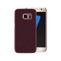 Накладка для Samsung G930 Galaxy S7 Flat пластик Nillkin Synthetic Fiber Красный