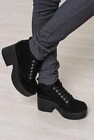 MUST HAVE 2018 замшевые ботиночки на шнурках цвет черный 36 - 40