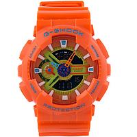 Яркие спортивные часы Casio G-Shock ga-110 Оrange