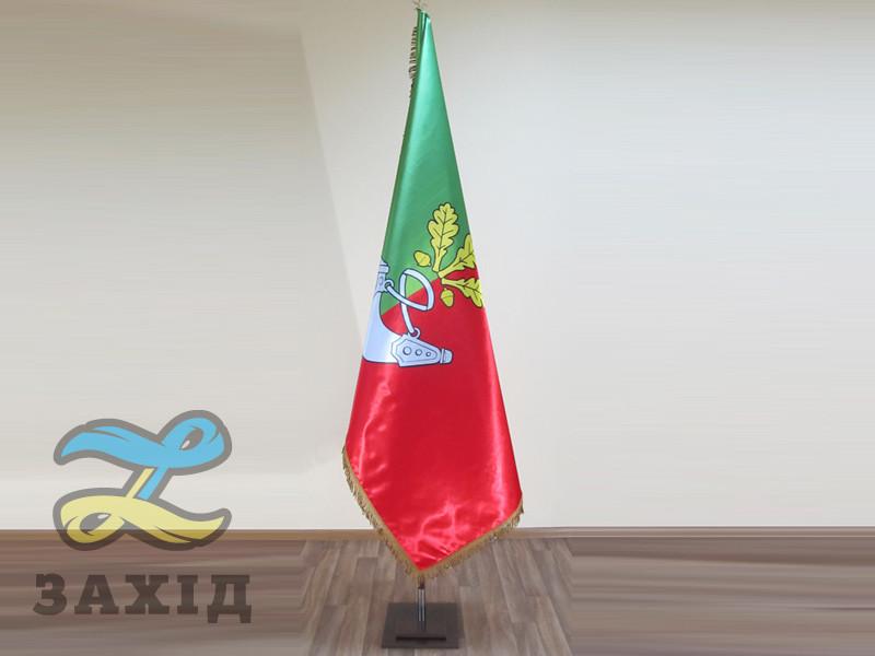 Прапор м. Кривий Ріг купольний з атласу