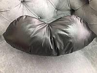 Подушка под голову - губы, чёрная, фото 1